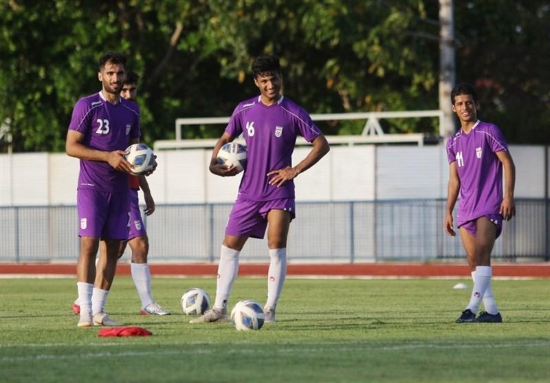 برگزاری آخرین تمرین تیم فوتبال امید پیش از ملاقات با ازبکستان