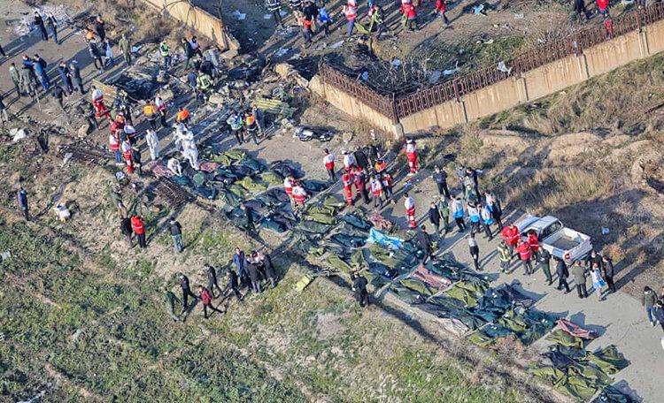 نخستین تصاویر ماهواره های آمریکایی از محل سقوط هواپیمای اوکراینی