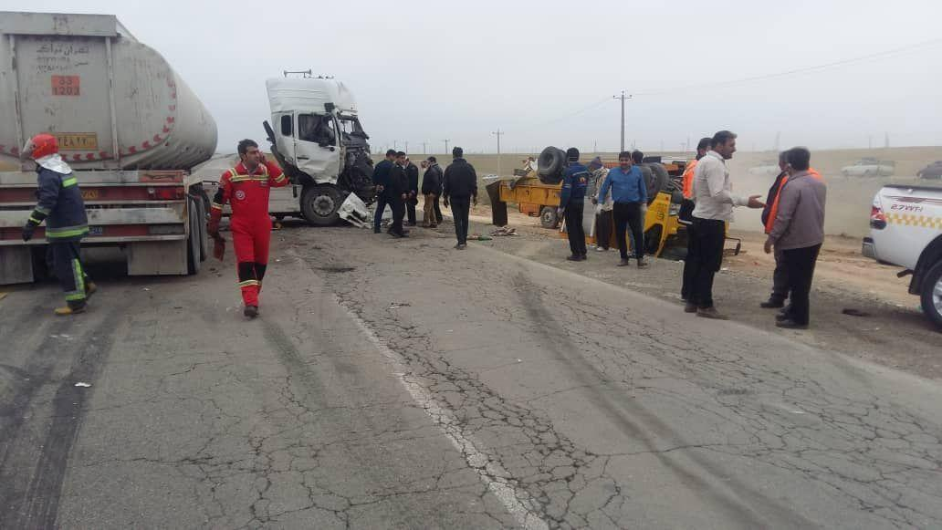 خبرنگاران تصادف در جاده قروه - دهگلان 2 کشته برجا گذاشت