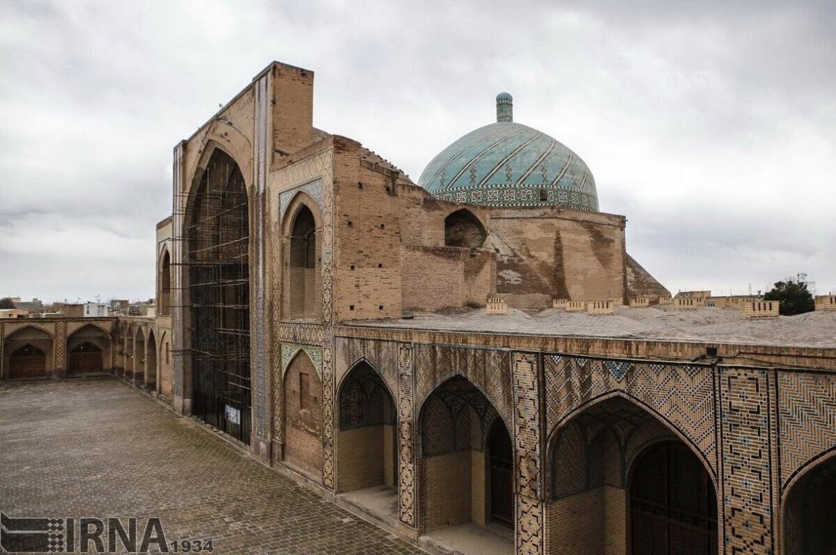خبرنگاران همکاری اساتید خارجی در مرمت مسجد جامع عتیق قزوین