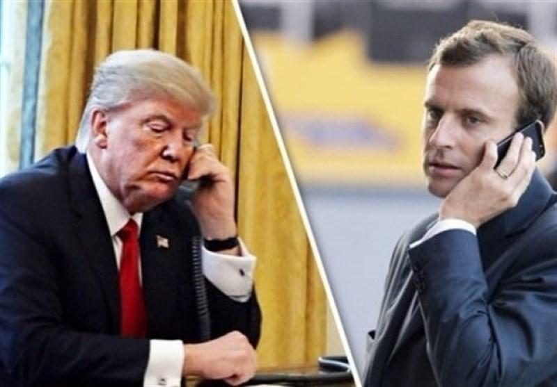 گفتگوی تلفنی ترامپ و ماکرون درباره بحران کرونا