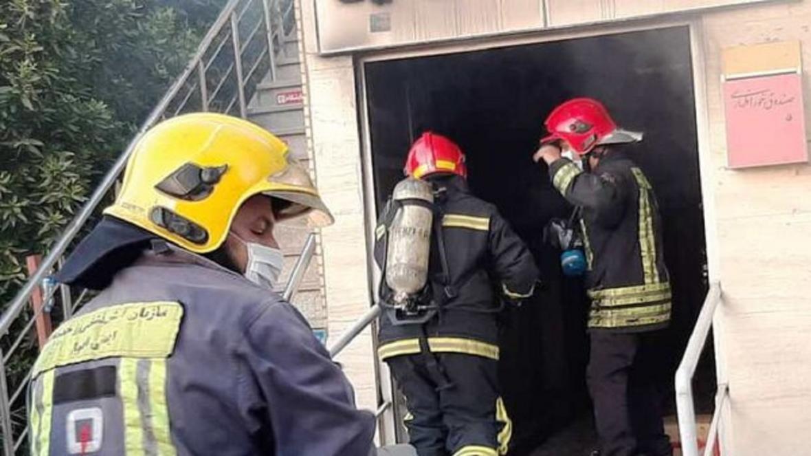 نشت گاز علت حریق در محوطه بیمارستان پیامبر اعظم بندرعباس