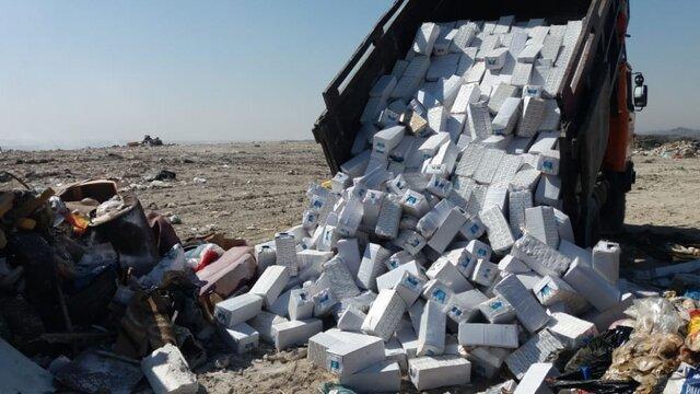 کشف بیش از 19 هزار پاکت شیر فاسد مدارس در اهواز