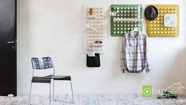 مدل های جدید رخت آویز دیواری چند کاره و تنظیم پذیر ، عکس