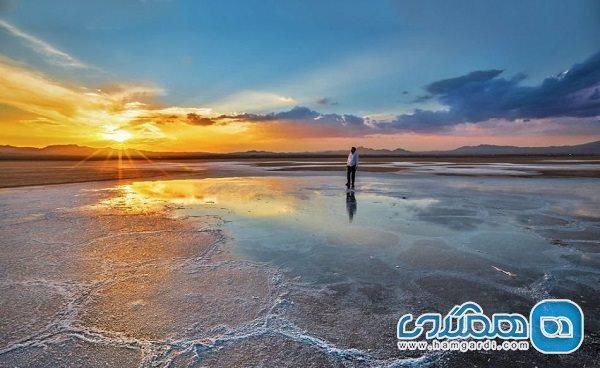 دریاچه نمک حوض سلطان؛ جاذبه ای طبیعی در قم