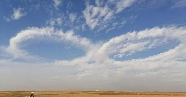 ابر های عجیب در آسمان عراق