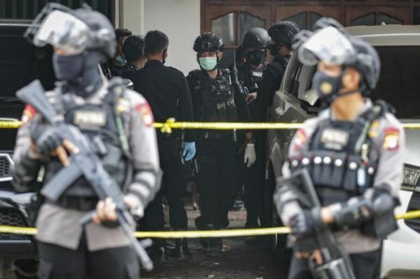 خبرنگاران حمله تروریستی به ایستگاه پلیس جاکارتا در اندونزی