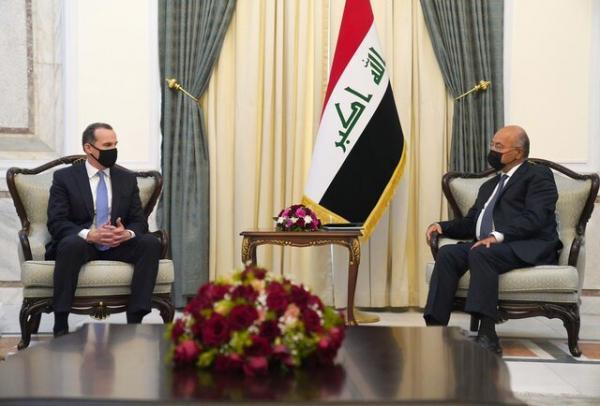 دیدار روسای جمهور و مجلس عراق با هیأت آمریکایی